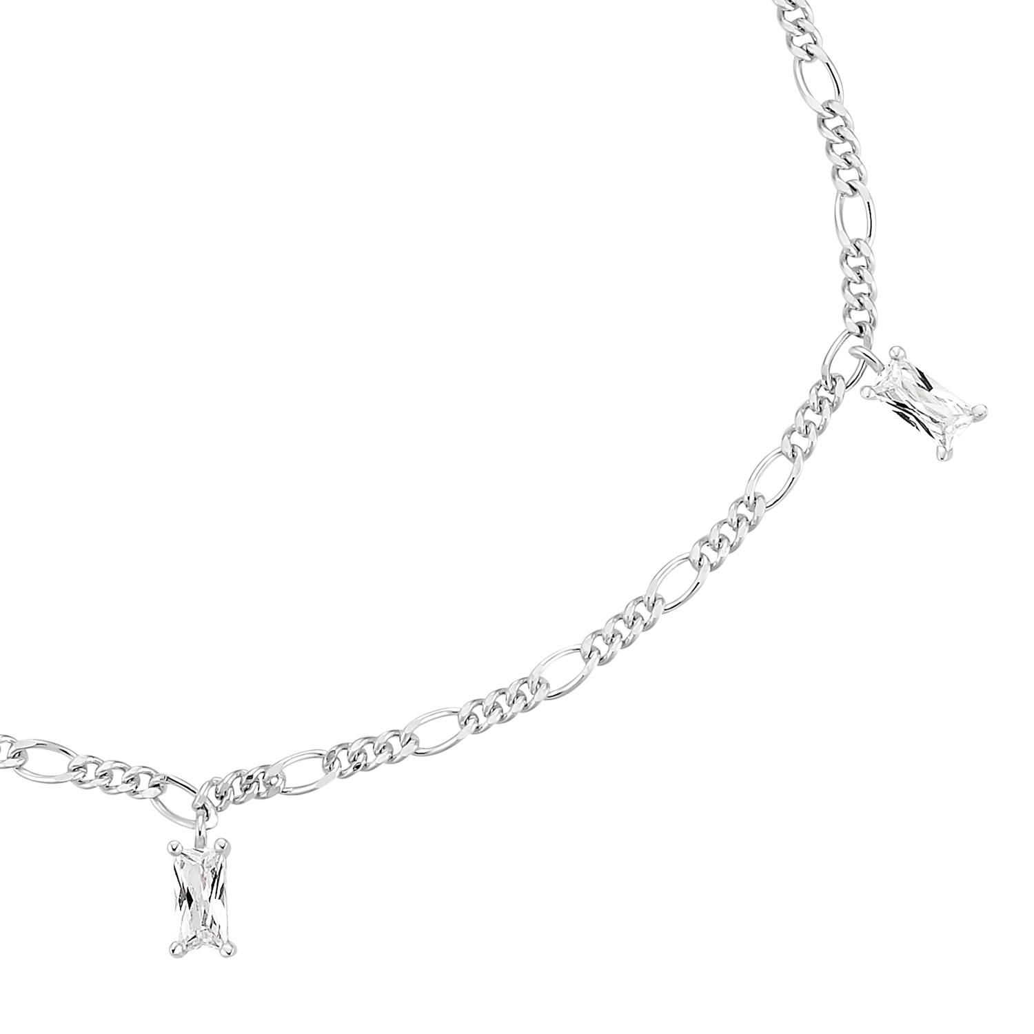 BAGUETTE STONES ARMBAND SILBER