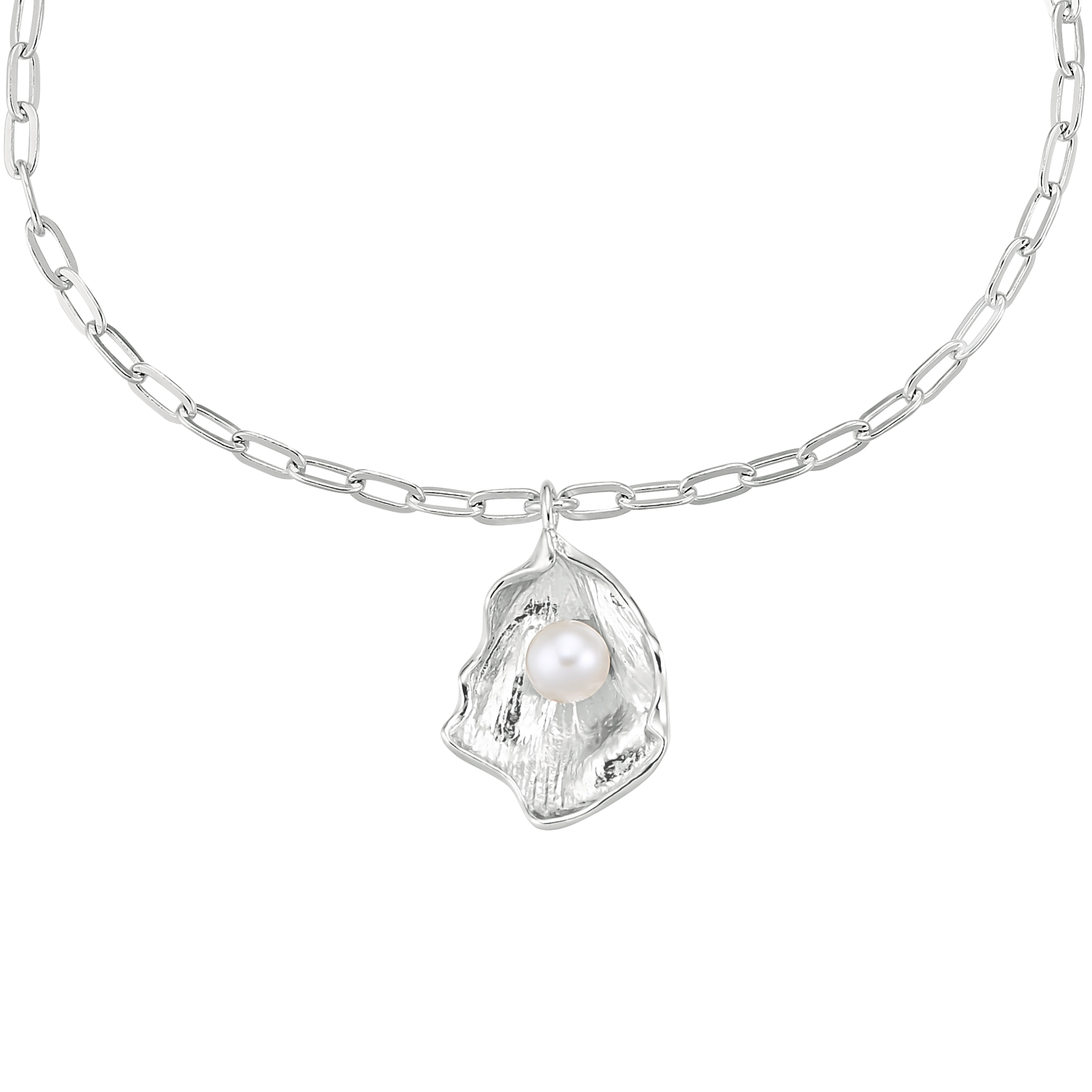 SHELL AND PEARL ARMBAND SILBER
