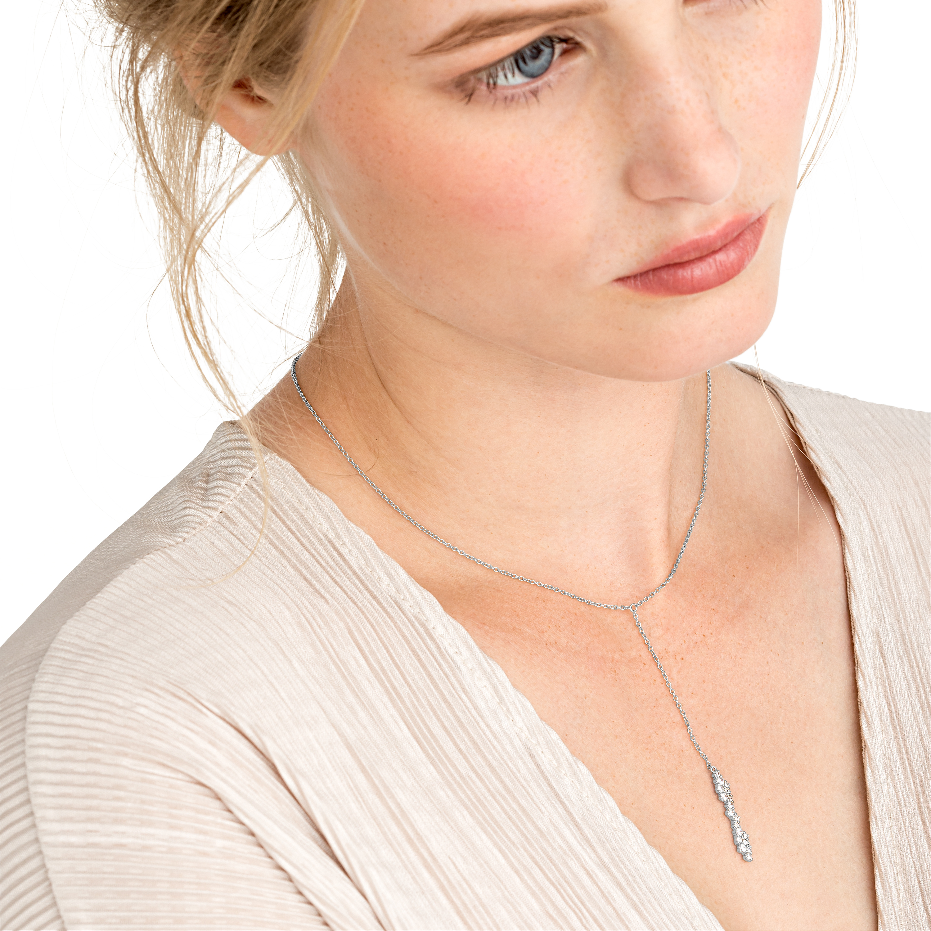 CLUSTER Y-COLLIER SILBER