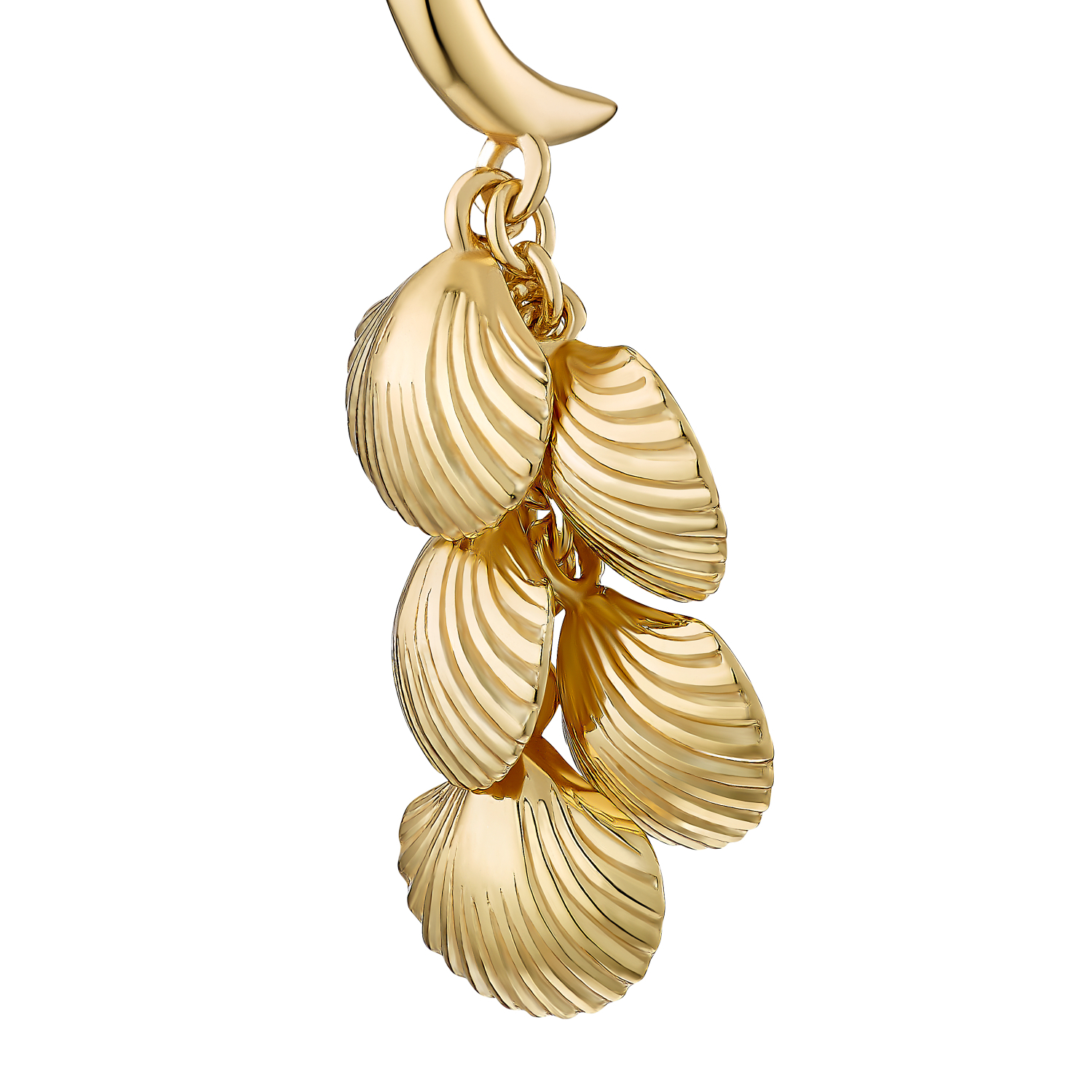 SHELL AND PEARL OHRHÄNGER GOLD