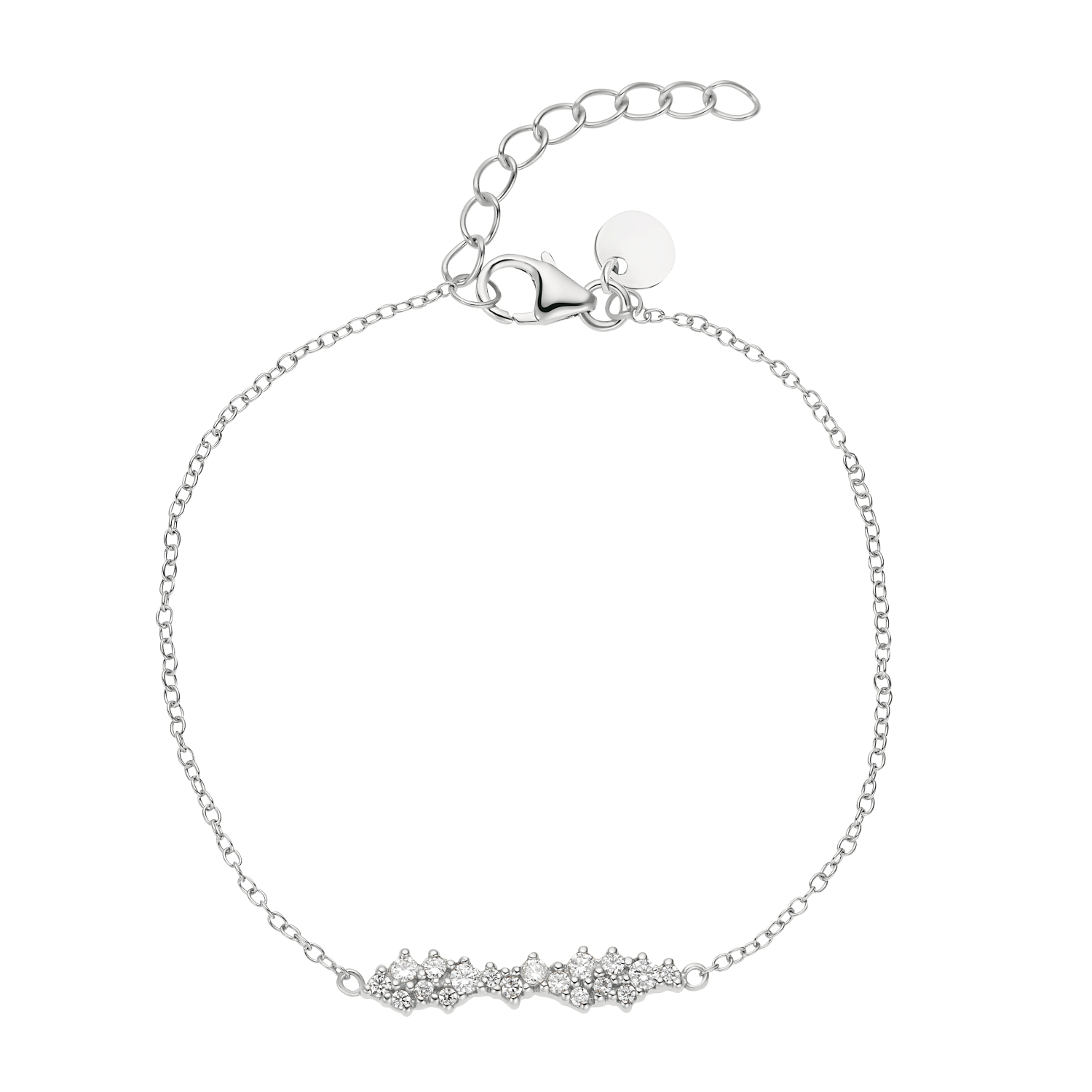 CLUSTER ARMBAND SILBER