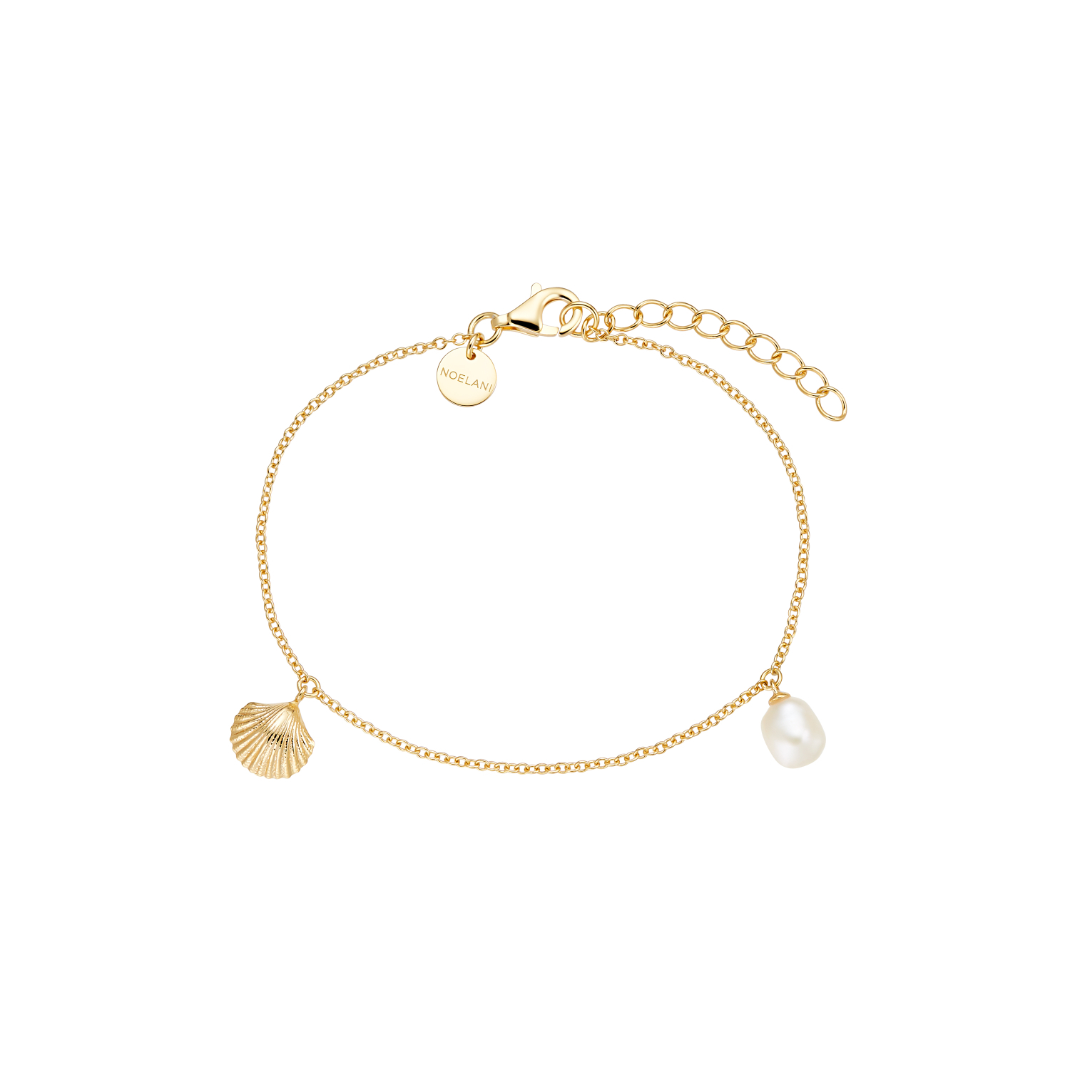 SHELL AND PEARL ARMBAND GOLD