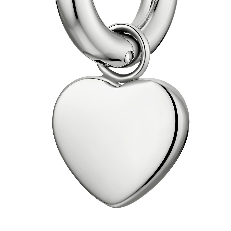 CHUNKY HEART CREOLEN SILBER