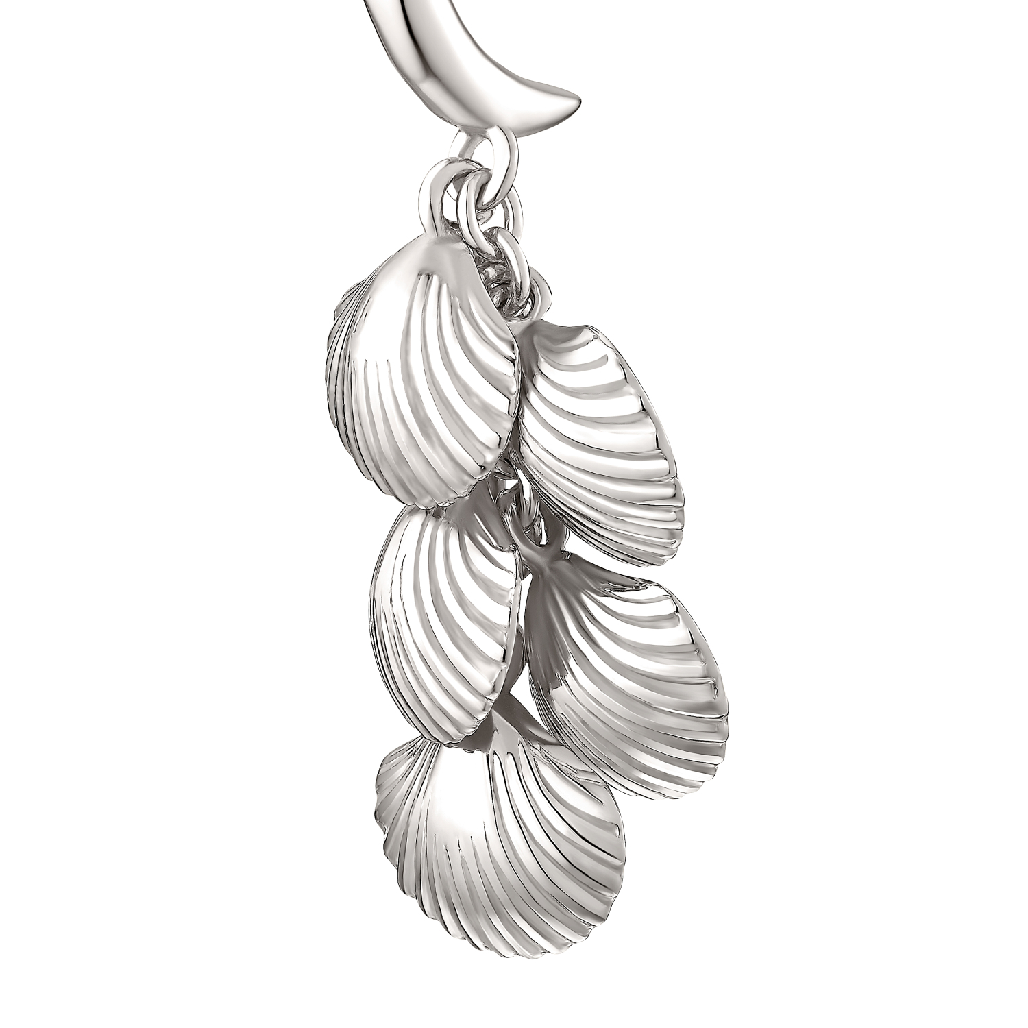 SHELL AND PEARL OHRHÄNGER SILBER