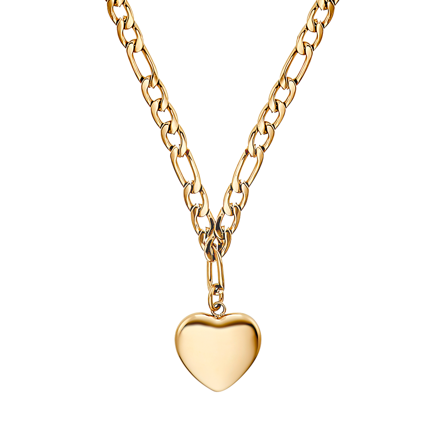 CHUNKY HEART KETTE MIT ANHÄNGER GOLD