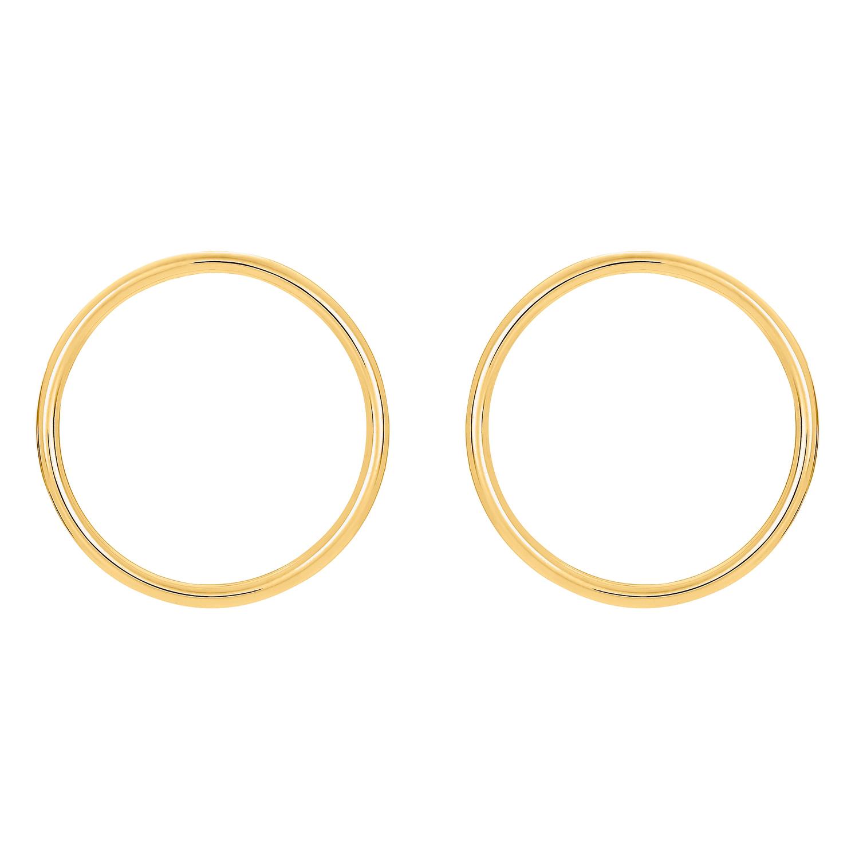 CIRCLE OHRSTECKER GOLD