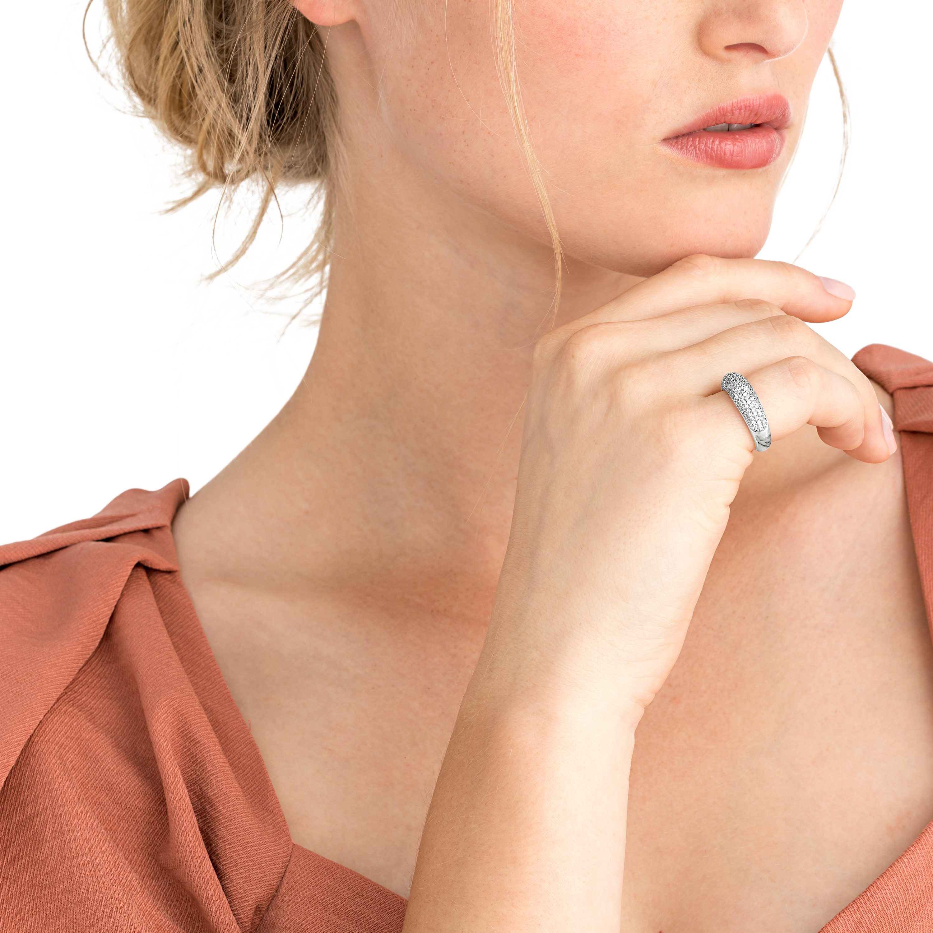 PAVE RING SILBER