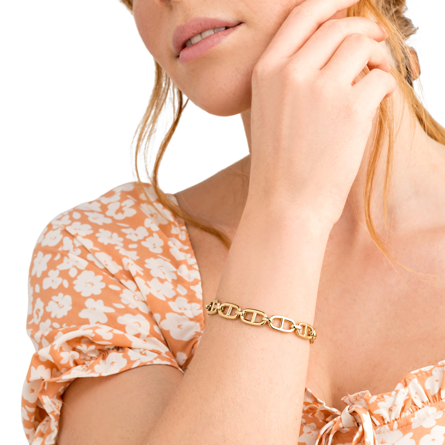 BRIDGE LINK ARMBAND GOLD