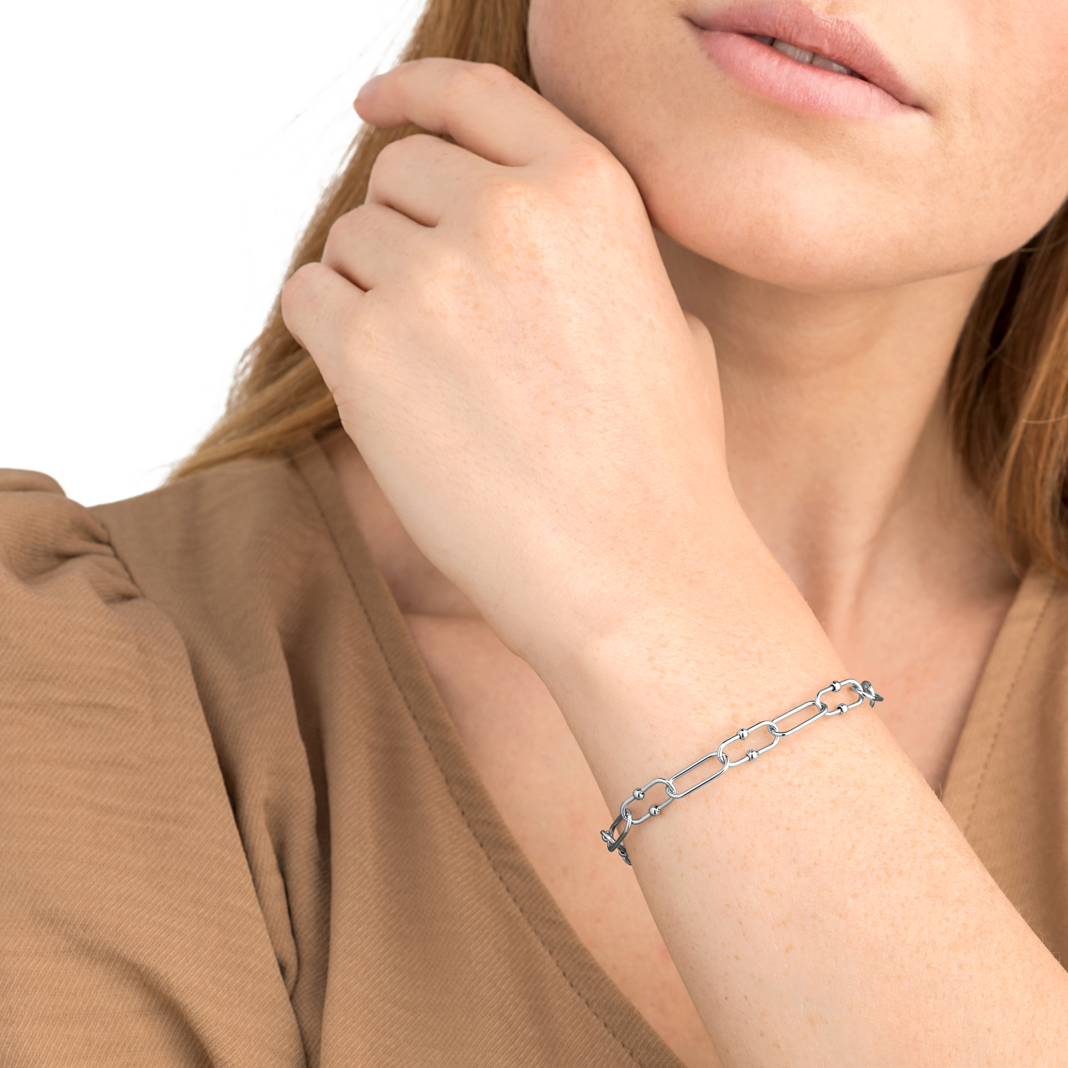 BUBBLE LINK ARMBAND SILBER