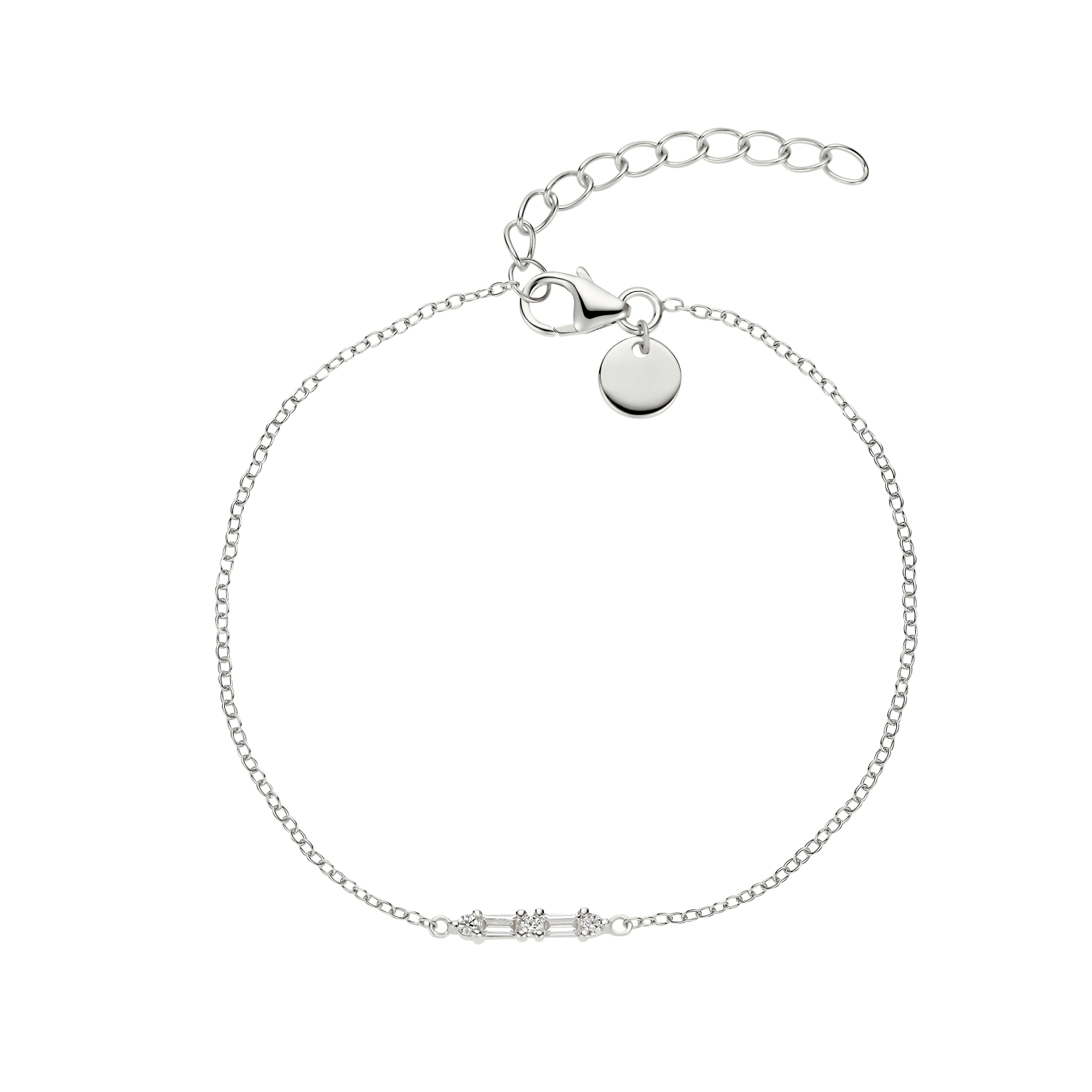BAGUETTE ARMBAND SILBER