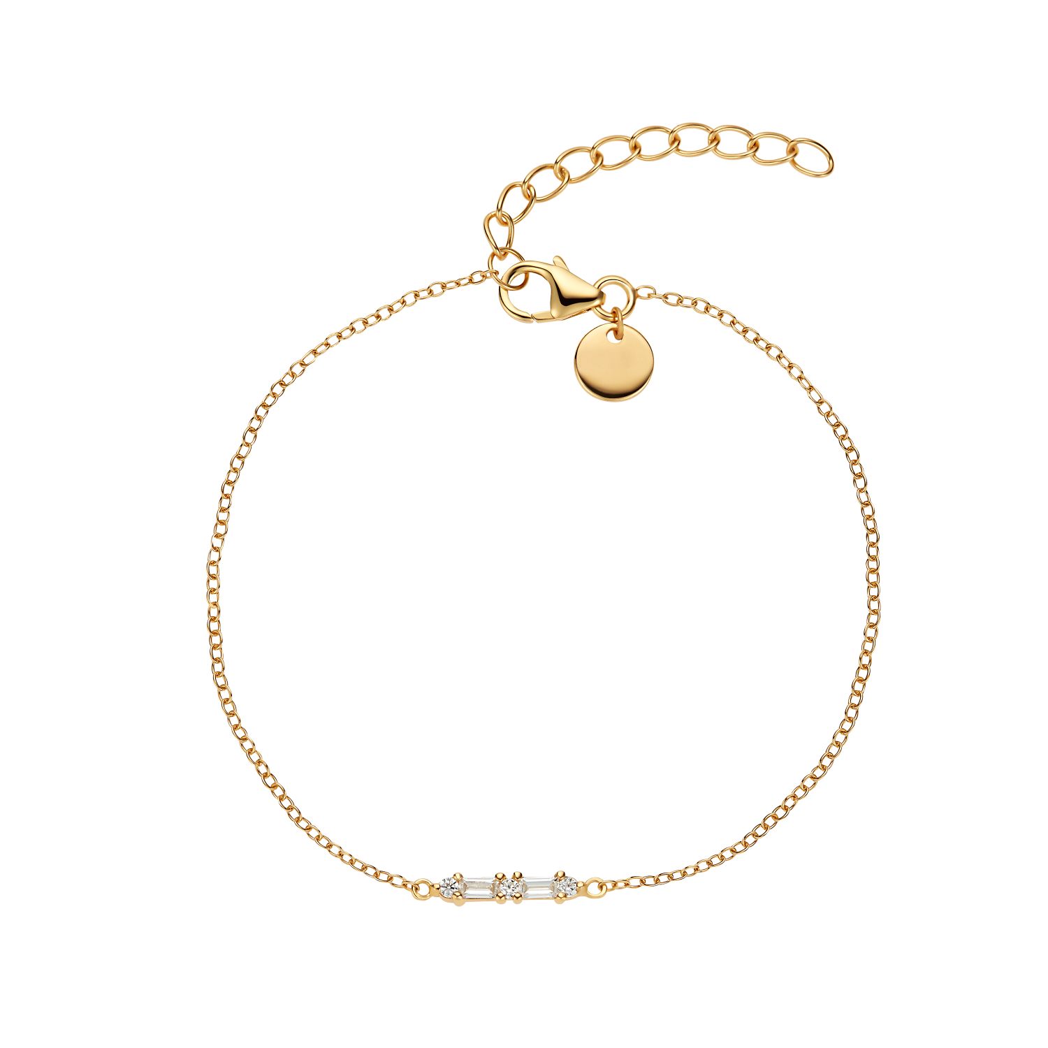BAGUETTE ARMBAND GOLD